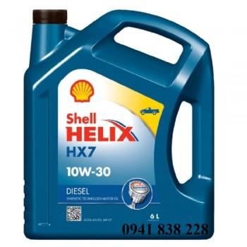 Dầu nhớt động cơ diesel xe bán tải Shell Helix HX7 10W30