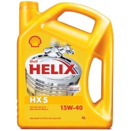 Dầu nhờn động cơ diesel xe bán tải Shell Helix HX5 15W40 can 6 lít