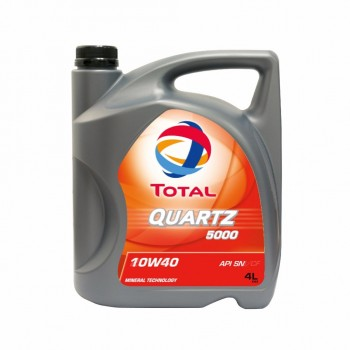 Dầu nhớt động cơ xăng Total Quartz 5000 SN 10W-40
