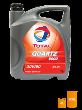 Dầu nhớt động cơ xăng Total Quartz 5000 SN 20W-50