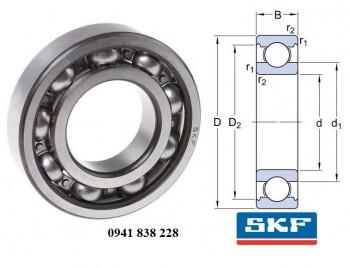 Vòng bi cầu SKF 6208/C3