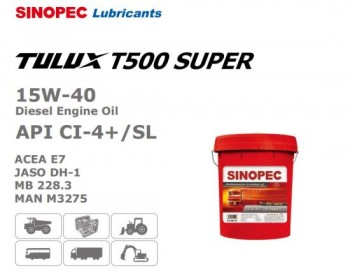 Dầu nhớt động cơ Diesel Sinopec Tulux T500 CI-4 SL