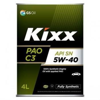 Dầu nhớt động cơ Kixx PAO C3 5W-30 và 5W-40 4L