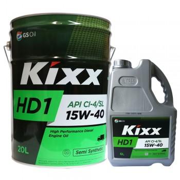 Dầu động cơ diesel Kixx HD1 15W-40 API CI-4