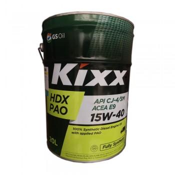 Dầu động cơ diesel Kixx HDX PAO 15W-40 API CJ-4-SM