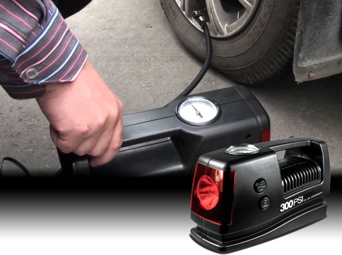 Bơm lốp Ô tô có đèn DC 12V Tire Inflator with Light HS bơm ô tô 2